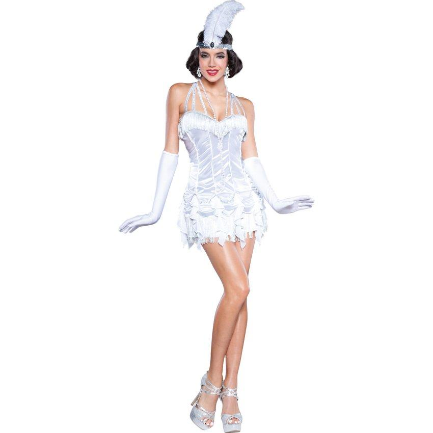 Silver Womens Flapper Dress Costume  sc 1 st  Halloween Costumes & Gangster Halloween Costumes | Gangster Costume Ideas
