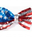 Patriotic Sequin Bow Tie