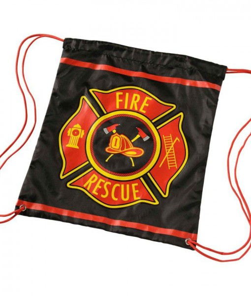 Firefighter Drawstring Backpack