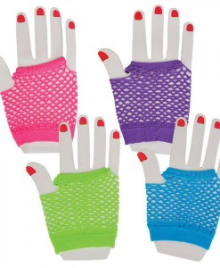 Neon Fishnet Fingerless Wrist Glove