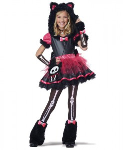 Skelanimals Deluxe Kit the Kat Child Costume