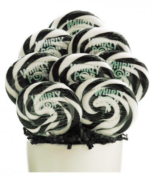 Black and White Whirly Pops