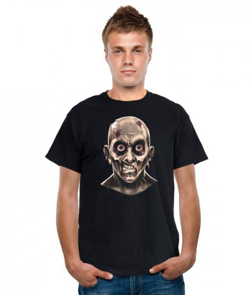 Frantic Zombie Eyeballs Shirt Adult