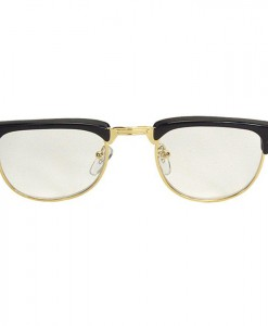 Mr. 50s Clear Glasses With Black Rims