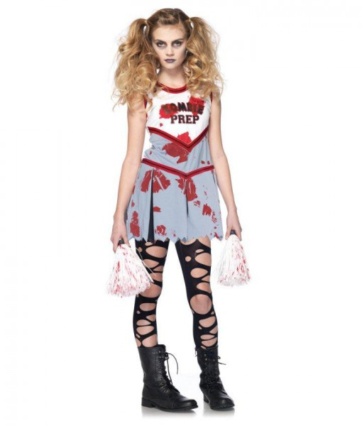 Halloween Zombie Costumes For Girls.Zombie Cheerleader Child Costume