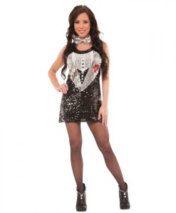 Sequin Tuxedo Dress Womens Costume