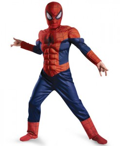 Ultimate Spider-Man Muscle Light Up Child Costume