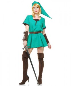 Elf Warrior Womens Princess Dress Costume