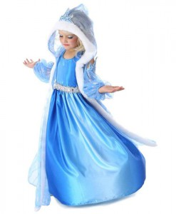 Snow Queen Girls Gown and Cape