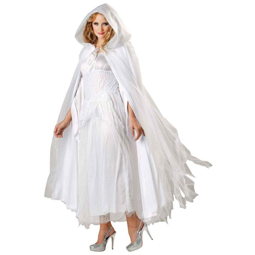 sc 1 st  Halloween Costumes & Haunted Ghostly White Costume Cape - Halloween Costume Ideas 2016