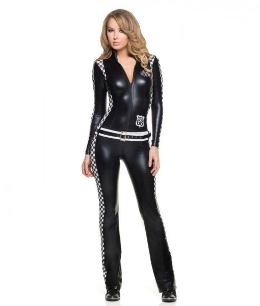 Sexy Racer Girl Jumpsuit Costume