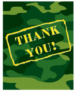 Camo Gear Thank You Cards (8 count)