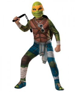 Teenage Mutant Ninja Turtle Movie - Deluxe Michelangelo Adult Costume