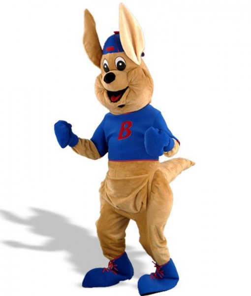 Bouncy Kangaroo Mascot Adult Costume