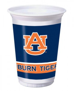 University of Auburn Tigers 20 oz. Cups (8)