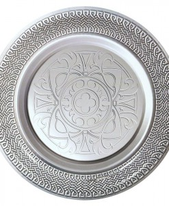 Goth Feast Silver Medieval Dinner Plates (8 count)