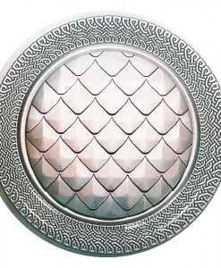 Goth Feast Scaled Shield Dessert Plates (8 count)