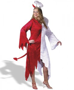 1/2 Devil  1/2 Angel Adult Plus Costume