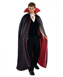 Reversible Deluxe Lined Vampire Cape (Red/Black)