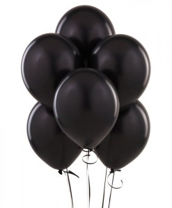 Black Latex Balloons (6 count)