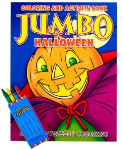Halloween Jumbo Coloring Book with Crayons Set