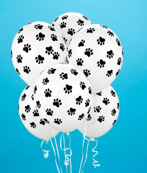 Paw Print Balloons (6 count)