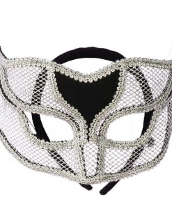Silver Netted Mask