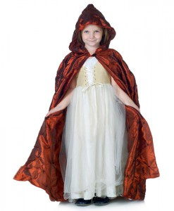 Red Pintuck Cape (Child)