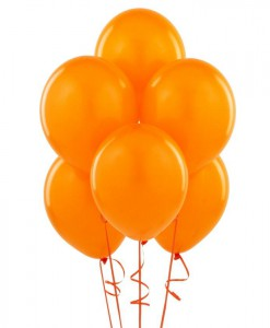 Orange 11 Matte Balloons (6 count)