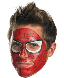 Spider-Man Face Tattoo