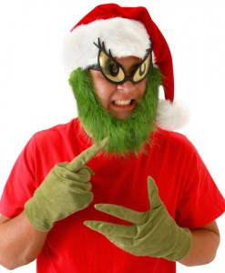 Dr. Seuss Grinch Hat with Beard Adult