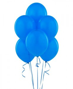 True Blue (Blue) 11 Matte Balloons (6 count)