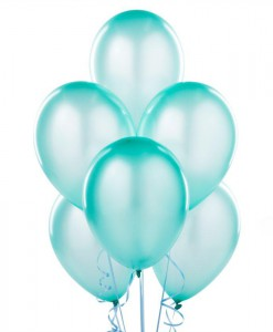 Silk Seafoam Blue 11 Latex Balloons - 6 count