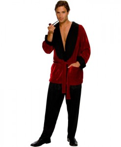 Playboy Men's Smoking Jacket Adult Costume