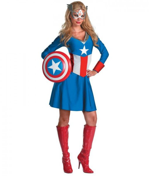 Captain America Female Classic Adult Costume
