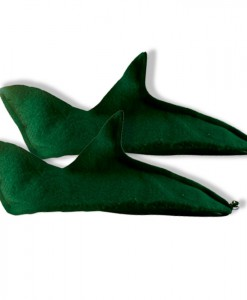 Green Felt Elf Shoes