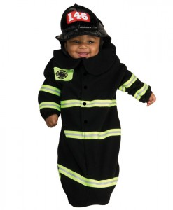 Firefighter Deluxe Bunting Infant Costume