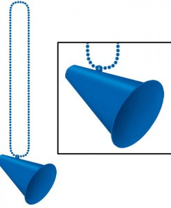 Beads with Megaphone Medallion - Blue