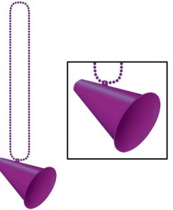 Beads with Megaphone Medallion - Purple