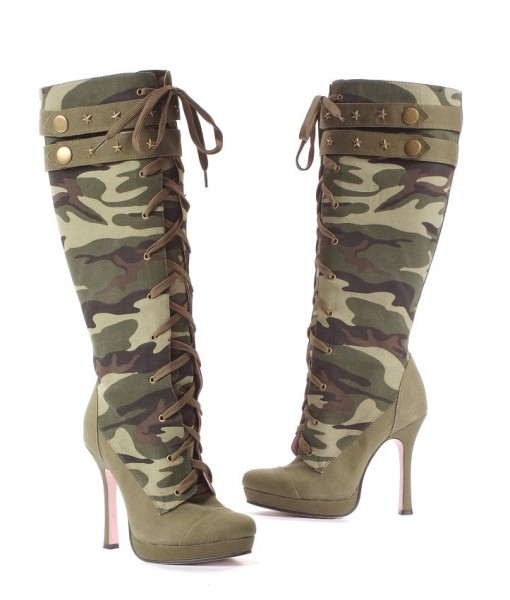 Sergeant Camo Adult Boots