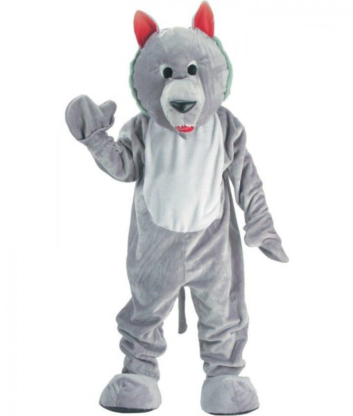 Hungry Wolf Economy Mascot Adult Costume
