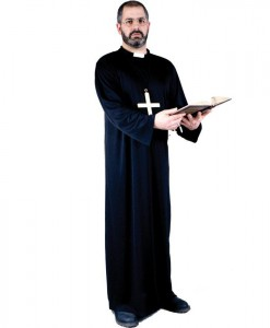Priest Adult Plus Costume