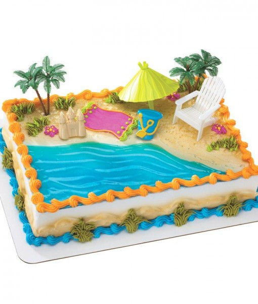 Beach Chair Umbrella Cake Decorations
