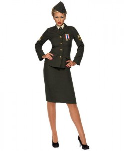 Wartime Officer Female Adult Costume