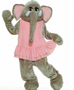 Elephant Plush Economy Mascot Adult Costume