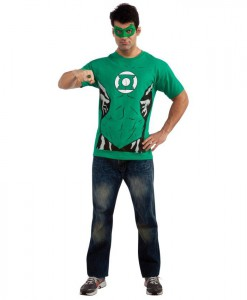 Green Lantern (Male) T-Shirt Adult Costume Kit