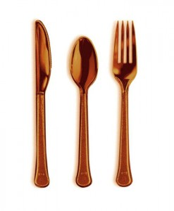 Chocolate Brown Forks  Knives Spoons (8 each)