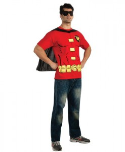 Robin (Male) T-Shirt Adult Costume Kit