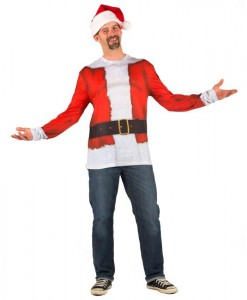 Santa Claus Plus Size Shirt Adult Costume