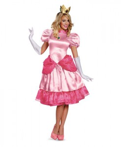 Super Mario Brothers - Deluxe Princess Peach Plus Size Costume